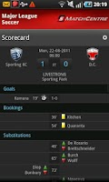 Screenshot of STATS MatchCentre