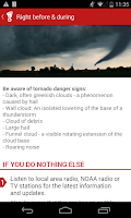 Screenshot of Tornado - American Red Cross
