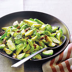 Sautéed Brussels Sprouts with Pecans