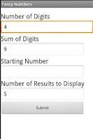 Screenshot of Fancy Numbers