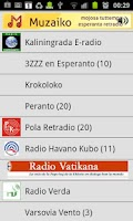 Screenshot of Esperanto-radio Muzaiko