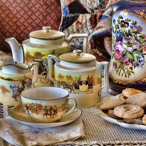 Tea and Cookies by Allen Crenshaw - Food & Drink Candy & Dessert ( table setting, cookies, tea, china, dessert,  )