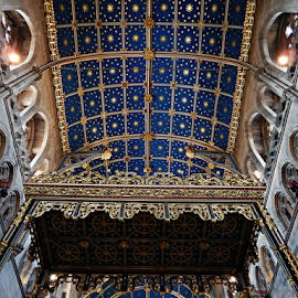 Ceiling at Carlisle Cathedral by Deborah Russenberger - Buildings & Architecture Places of Worship ( blue, ceiling, cathedral )