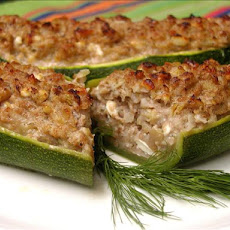 Stuffed Zucchini With Walnuts and Feta