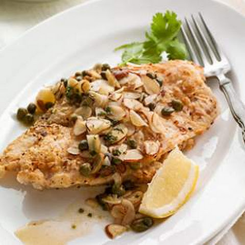 Sole with Garlic-Almond-Caper Sauce