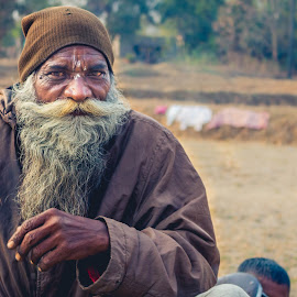    A old man with his own style    by Sudarshan Das - People Portraits of Men