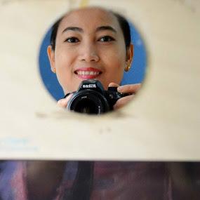 Mirror by Dwi Ratna Miranti - People Portraits of Women