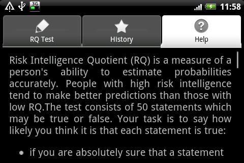 Mobile Risk Intelligence Test