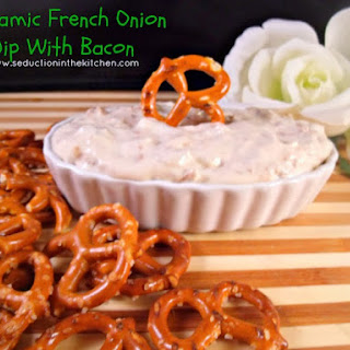 Balsamic French Onion Dip With Bacon