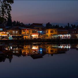 Water_Reflection by Swarup Mondal - Landscapes Travel ( srinagar, night life, kashmir, landscape, travel photography,  )
