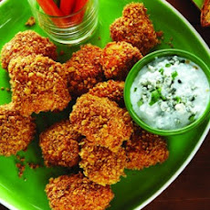 Baked Buffalo Chicken Tenders with Blue Cheese Sauce