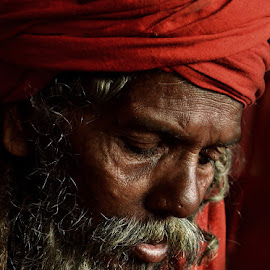 Divine thought by Arnab Bhattacharyya - People Portraits of Men