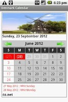 Screenshot of Danish Calendar 2012-2013