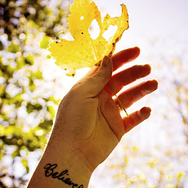 Believe by Mary Withers Lawton - People Body Art/Tattoos ( autumn, leaf, tattoo )
