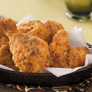 Cornmeal Oven-Fried Chicken