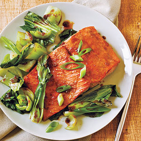 ... miso ginger glazed salmon honey soy glazed salmon with bok choy