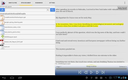 Pdf to Speech Pro - screenshot