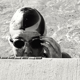 Goggles by Terri Venesio - Sports & Fitness Swimming ( sony, black and white, west sacramento dolphins, west sacramento, swimming )