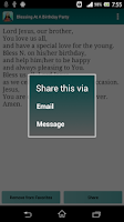 Screenshot of Catholic Blessings
