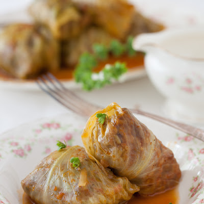 """Golubtsy"" Stuffed Cabbage Rolls"
