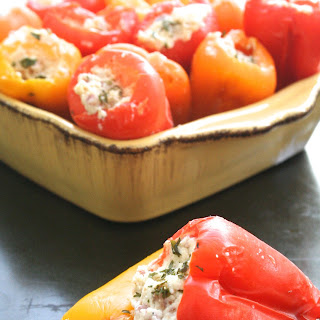 Pop 'em. [goat Cheese, Parmesan & Pancetta Stuffed Baby Bell Peppers]