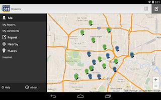 Screenshot of Houston 311
