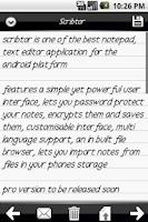 Screenshot of Scribtor Notes
