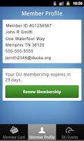 Screenshot of Ducks Unlimited Membership App