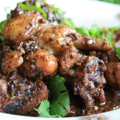 Braised Chicken with Black Bean Sauce