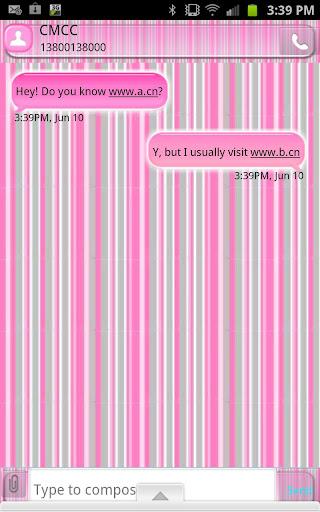 GO SMS - Precious Stripes