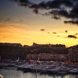 by Jose Figueiredo - City,  Street & Park  Vistas ( sunset, boats, harbour )