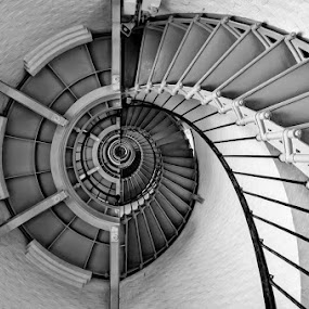 STAIRWAY TO HEAVEN by RomanDA Photography - Buildings & Architecture Architectural Detail ( , stairs, black and white, lighthouse )
