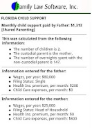 Screenshot of FL Child Support Calculator