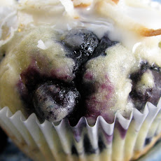 Loaded Blueberry Coconut Muffins