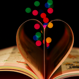 by Dipali S - Artistic Objects Other Objects ( heart, artistic, book, bokeh )