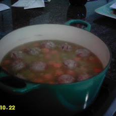 Split Pea Soup With Meatballs