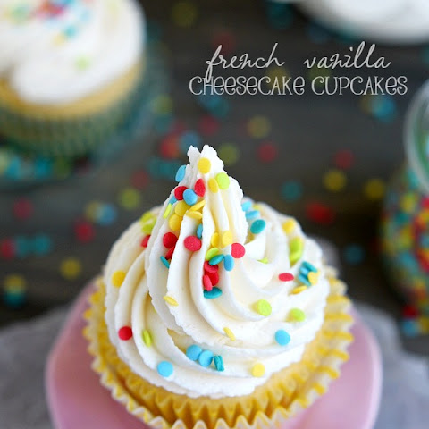 French Vanilla Cheesecake Cupcakes
