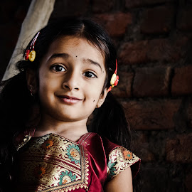 Dakshu smile by Vamshi Pandari - Babies & Children Child Portraits