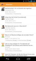 Screenshot of e-fellows.net community F&A