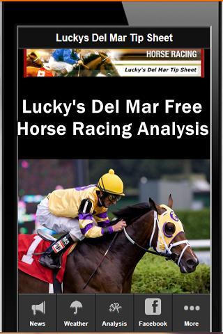 Del Mar Horse Racing Tips
