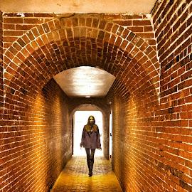 Portal by Luke Mccarthy - Instagram & Mobile Android ( friends, boston, brick, path, light )