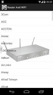 WiFi Router Passwords 2016 Screenshot