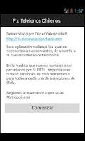 Screenshot of Fix Numeros Telefonos Chile