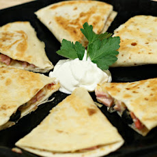 Ham and Gouda Quesadilla Snacks