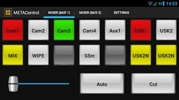 Screenshot of METAControl