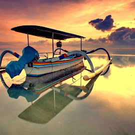 The Boat by Hendra Gunawan - Transportation Boats