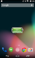 Screenshot of [Battery Theme] Bubbles Green