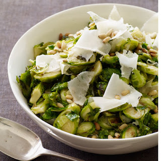 Sautéed Brussels Sprouts with Parmesan and Pine Nuts