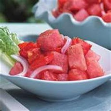 Watermelon Tomato Salad With Balsamic Dressing
