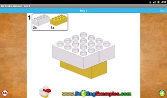 Screenshot of Big brick examples - Age 3